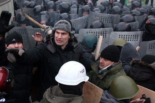 Vitali Klitschko se ha lanzado a la política en Ucrania, pero parece ser...