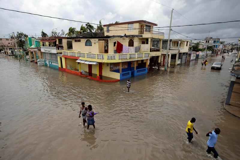 The flooded streets of Les Cayes, Haiti.