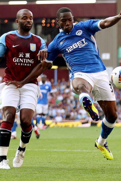 Aston Villa y Wigan protagonizaron un entretenido partido.