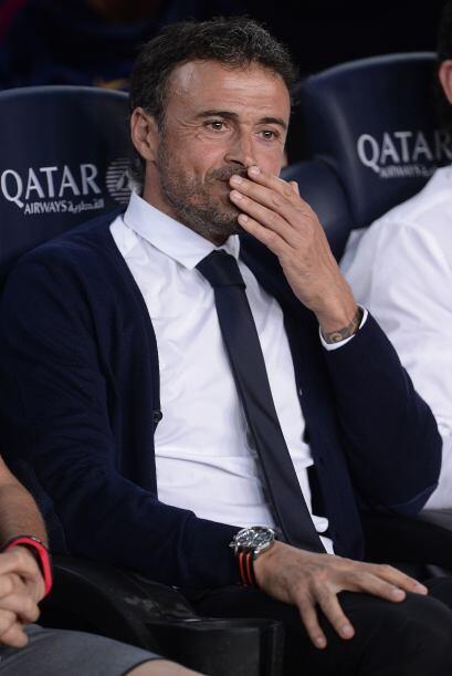 El técnico Luis Enrique hacía su debut en duelo oficial al frente del Ba...