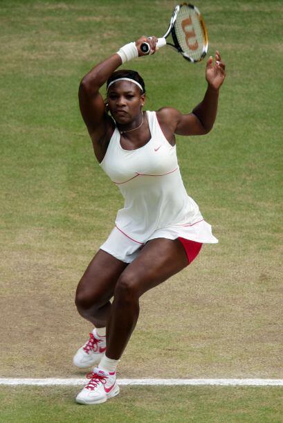 Después del quinto juego del primer set, Serena fue una fuerza desatada...