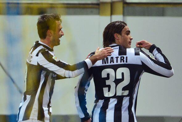 Los dos tantos de Matri resultaron factor decisivo y la 'Juve' venci&oac...