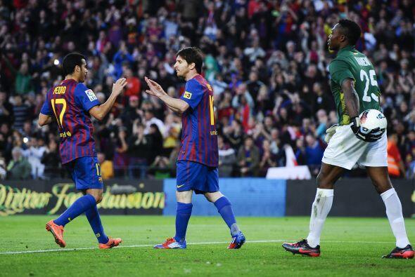 Messi marcó el 4 a 1 del partido, y su 'Hat-trick' personal.