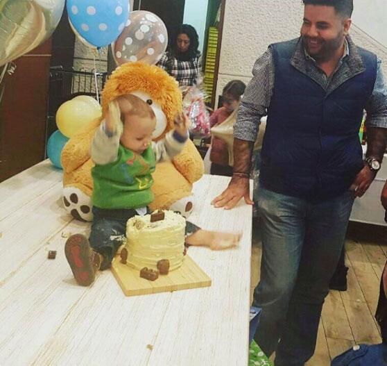 Cumpleaños hijo de Silvia Navarro