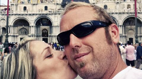 La pareja de estadounidenses visitó Venecia, Italia, antes de lle...