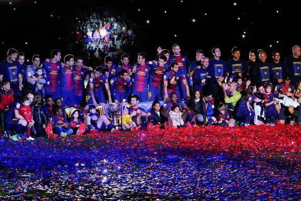 Así se vivió la fiesta del monarca de la Liga española, el Barcelona.