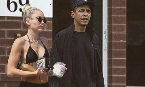 Este fotomontaje se hizo viral luego de que Miley Cyrus lo compartiera e...