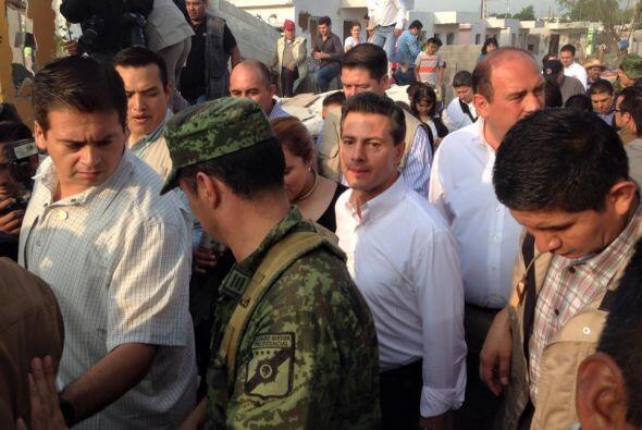 Peña Nieto aseguró que la comunidad de Ciudad Acuña recibirá ayuda pront...