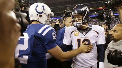 Los Colts le quitaron el invicto a los Broncos en el 2013 (AP-NFL).