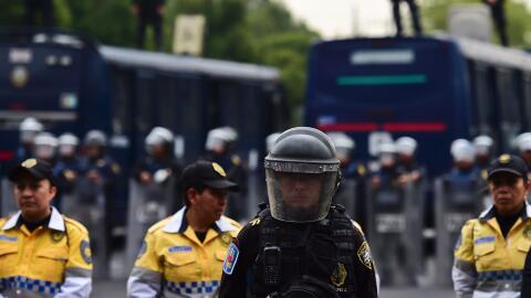 Elementos de la policía de México (Archivo)