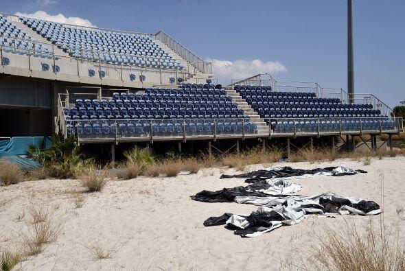 El estadio donde se llevó acabo el Volibol de Playa se encuentra en pési...
