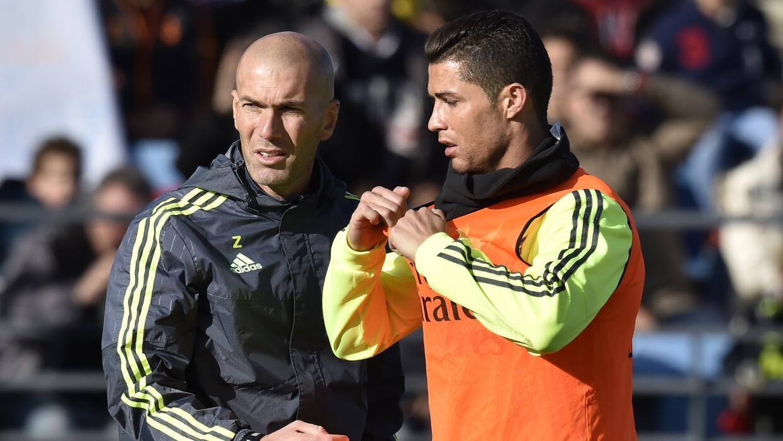 Cristiano Ronaldo con Zinedine Zidane