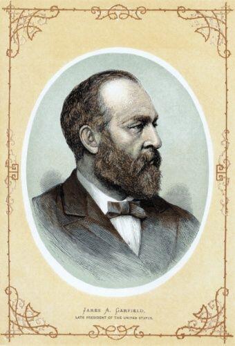 #20 - James A. Garfield. Desde 4 de marzo de 1881, hasta 19 de septiembr...