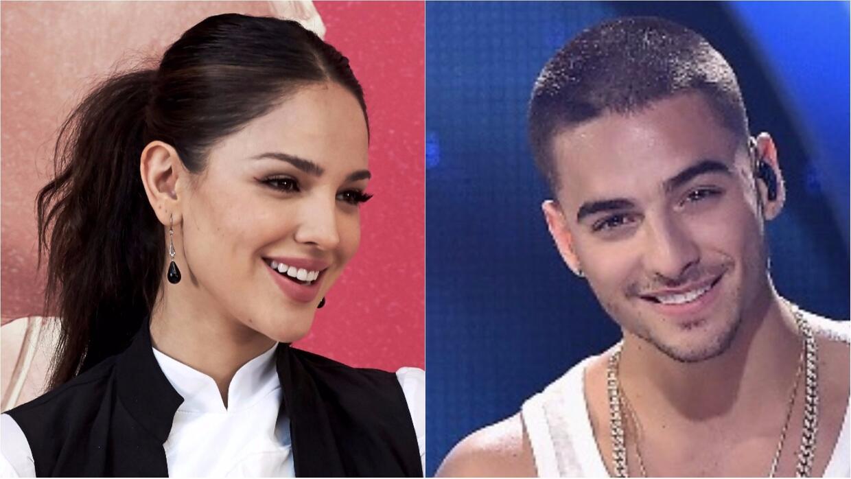¿Romance en secreto? Cacharon a Maluma y a Eiza González besándose en un...