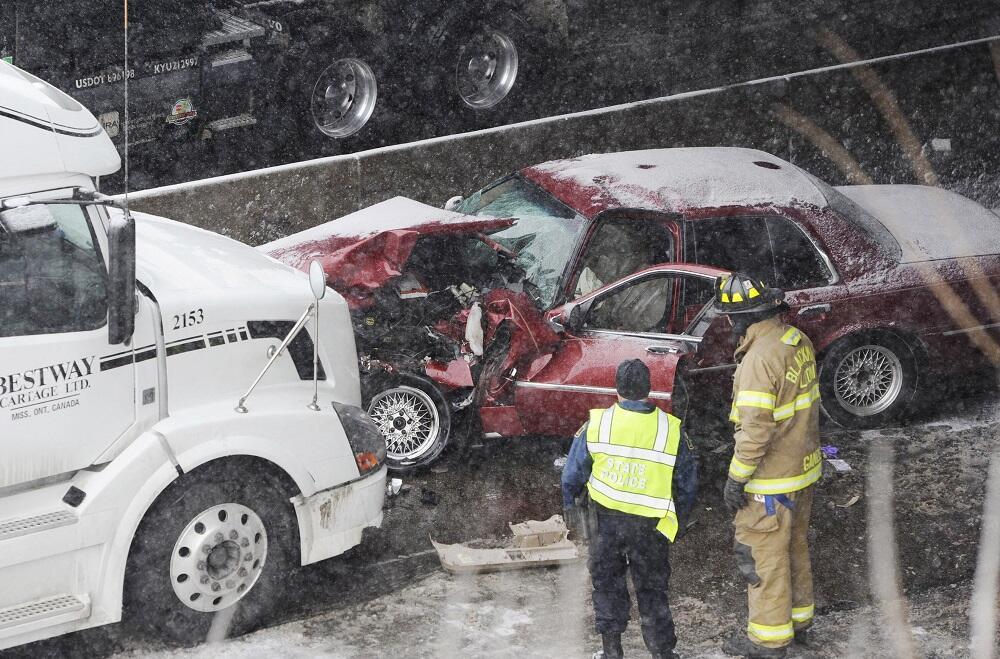 Las condiciones meteorológicas provocaron algunos accidentes, como el de...