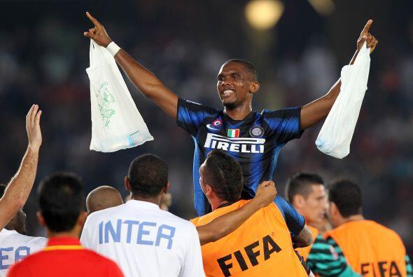 El festejo del segundo tanto se desplazó al banco de suplentes. Inter se...