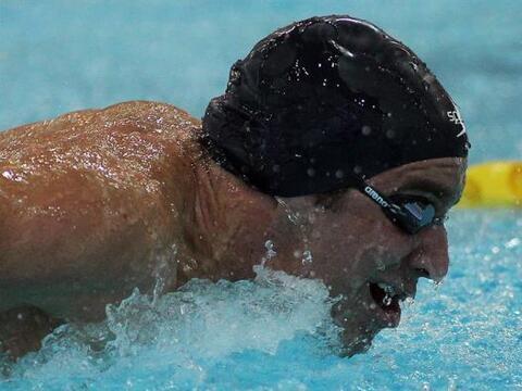 El nadador venezolano Alberto Subirats es de Visto en acció...