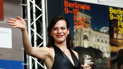 La actriz chilena Daniela Vega posando durante el Festival de Cine de Be...