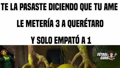 Memelogía: América no pudo con Querétaro y se llevó las burlas en redes sociales