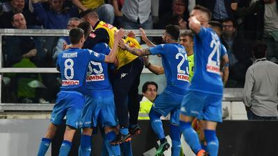 En fotos: Juventus perdió con Nápoles y apenas quedó con un punto de ventaja en Italia