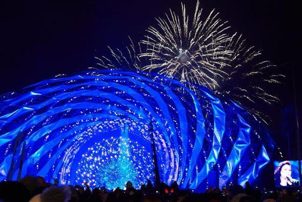 Celebración de Año Nuevo en Gdynia (Polonia).