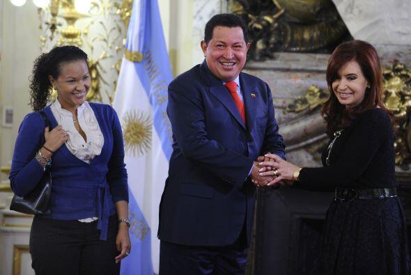 El presidente de Venezuela, Hugo Chávez llegó a Argentina...