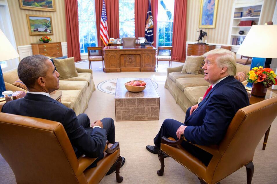 Oval Office Obama Trump