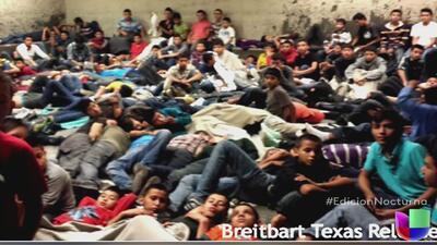 Niños y adultos hacinados en cárceles de inmigración en Texas