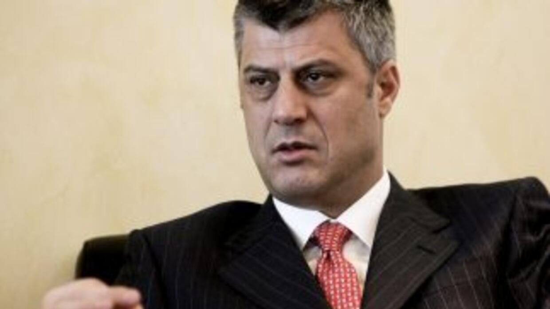 El Consejo de Europa involucró al Primer ministro kosovar, Hashim Thaçi,...