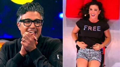 Jaime Camil y Mariazel se ganaron la admiración del público al jugar 'Mira como tiemblo'