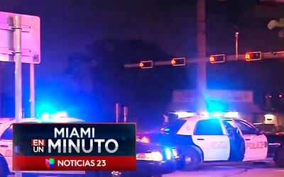 'Miami en un Minuto': autoridades de Broward buscan a un conductor que a...