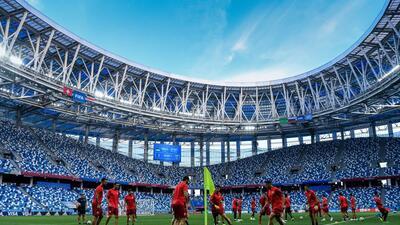En fotos: con motivos diferentes, Suiza y Costa Rica se miden en Nizhny Novgorod