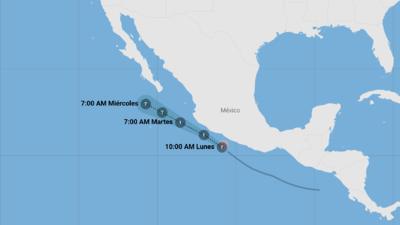 Así avanza Ileana, la tormenta tropical que se mueve frente a las costas de México
