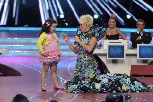La pequeña confía mucho en el gran talento que posee.