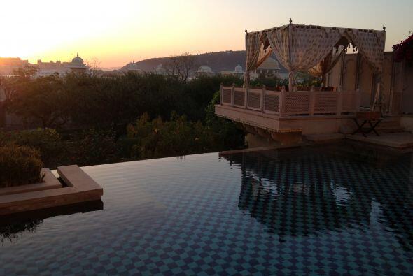 Como podemos ver, la habitación de Raúl contó con su propia piscina.