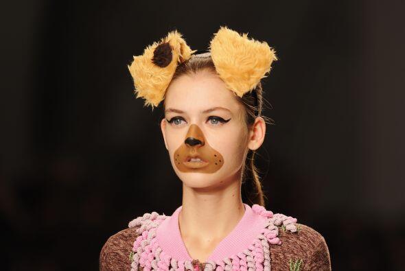 Otra de las cosas que en verdad fueron muy extravagantes fue el maquilla...