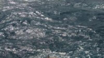 Esta mina fue hallada flotando en las aguas de Dania Beach, al norte de...
