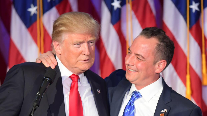 Trump con Rience Priebus durante la campaña.