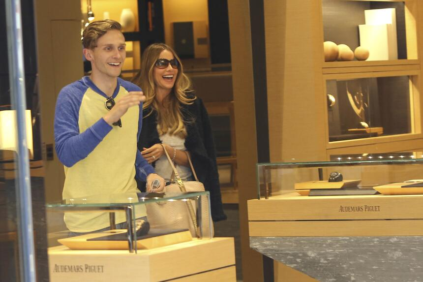 La colombiana disfruta de un día de exclusivo shopping.