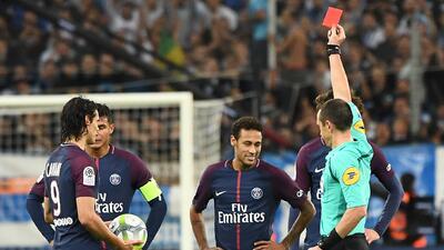 Primera roja del fichaje más caro del mundo: Neymar en su expulsión con PSG