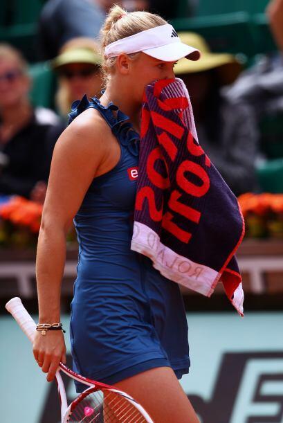 Wozniacki no lo podía creer, pero resignada se retiró de las pistas de R...