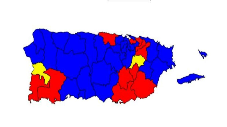 Mapa de distritos representivos