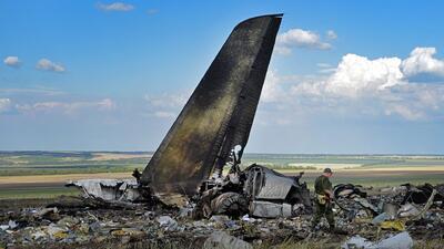 Al menos 49 soldados ucranianos murieron al derribarse su avión