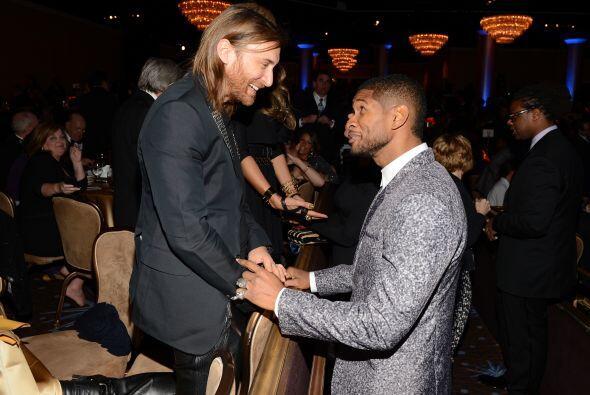 Y luego se fue a saludar a David Guetta, ¿será que quiere un remix?