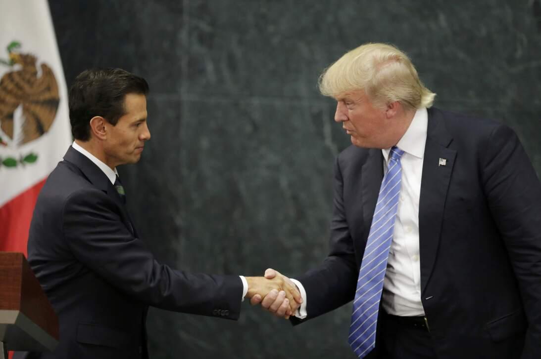 Encuentro entre Enrique Peña Nieto y Donald Trump en agosto de 2016