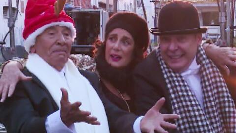 César Évora bailó y se divirtió con su amigos famosos por las calles de...
