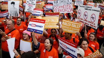 Protesta en Tallahassee el pasado 26 de febrero pidiendo un mayor contro...