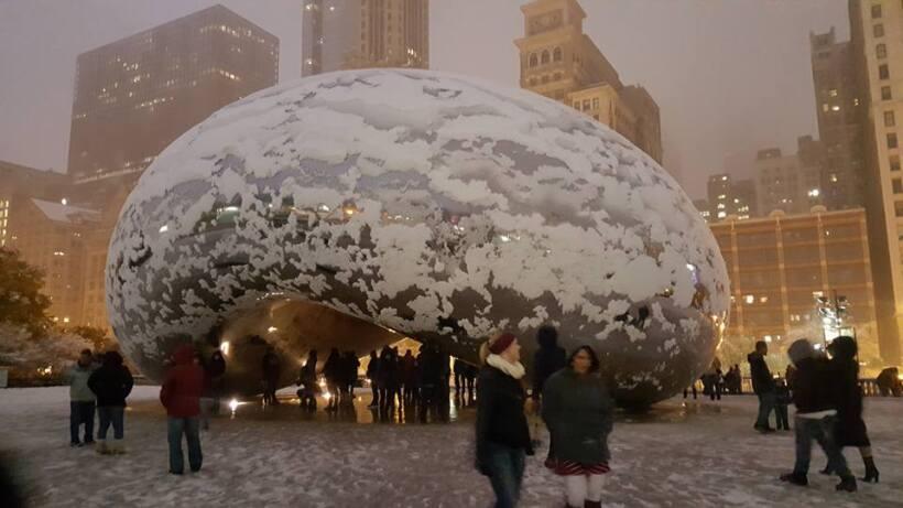 Primera nevada del año en Chicago
