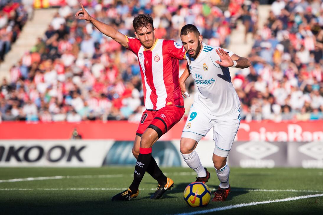 El segundo gran resultado del Girona fue ante el Real Madrid, al que sup...