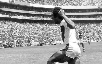 'Cabinho' festejando el gol del primer título de Liga.
